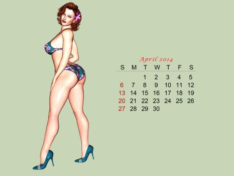 Pinup Number Twenty-Five:  Calendar Girl (April) by wcpelon