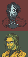 ASOIAF Character colour scheme exercises by ekzotik