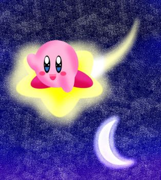 Kirby On The Warp Star by NinjaStooge