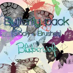Butterfly pack (Stock + Brushes) by Bluuberwolf