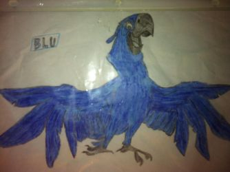 Blu the macaw by FactoryDash