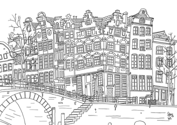Amsterdam Canal Houses by funkydoodycool