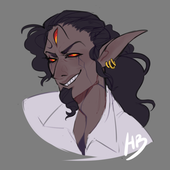 [Commission] Daemon by hellebee