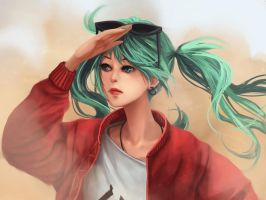 Sand planet Hatsune Miku by fcnjt