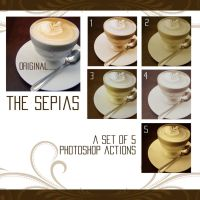 the sepias - 5 ps actions by urbaniumz