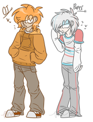 - OJ and Paper Humanized (REDO) - by TheMemeWizard