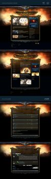 Roman Empire Game Website Template by karsten