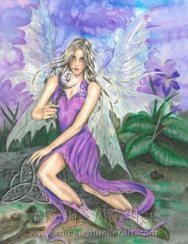 The Violet Fairy by mickiemueller