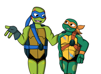 Our leader is such a hot head huh? .:TMNT 2018:. by Uketello