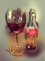 Coke in a Wine Glass by JohnathanSung