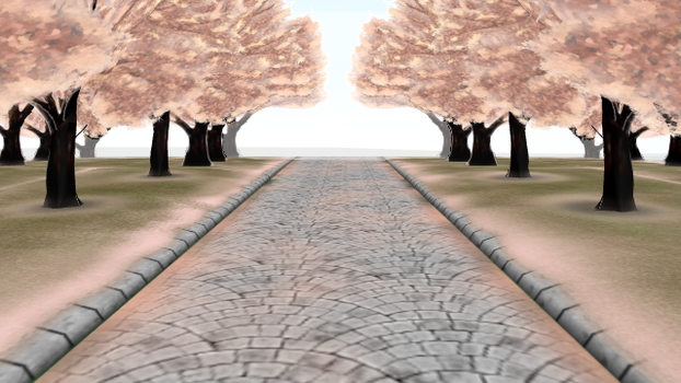 MMD Cherry trees stage Donwload by 9844