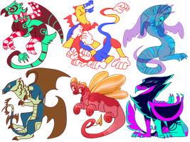 WEIRD DRAGONTHING ADOPTS // 4/6 OPEN!! by butch-vulture