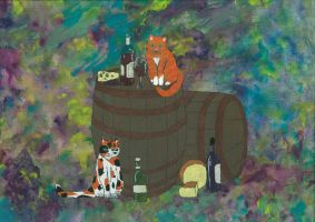 UnCorked - Cats by leopardwolf