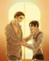 Eruri - Stop it, Erwin, you're in the way by unhlyghst