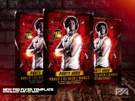 Eat Sleep Rave Repeat - Party Hard Flyer Template by pawlowskiart