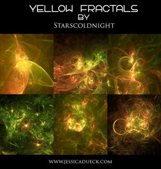 yellow II fractal by starscoldnight by StarsColdNight