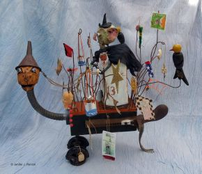 Outsider art assemblage: Halloween Buggy by bugatha1