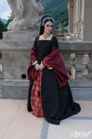 Tudor black dress (XVI century) by DanielleFiore