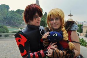 Hiccup and Astrid / How Train To Your Dragon 2 by Kibamarta