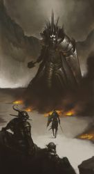 Morgoth and Fingolfin 2 by Mentosik8