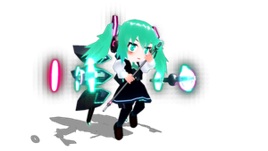 [MMD] Low Poly Miku by Snorlaxin