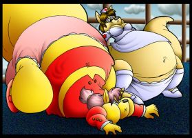 Fat Kelly-Roo And Fat Vanessa. by Virus-20