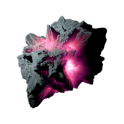 Asteroid Meteor Fuchsia | Transparent Space Stock by LapisDemon