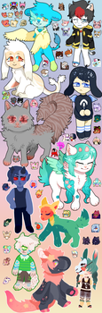 look at all those chibis (ft. icons) by unifriend