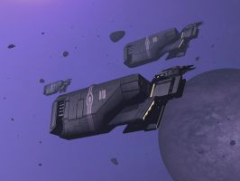 Whale Civilian Cargo Transport by AStepIntoOblivion