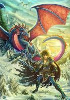 Kitiara and the Dragon Army by DarkAkelarre
