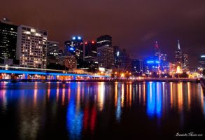 Melbourne City Scape by daniellepowell82