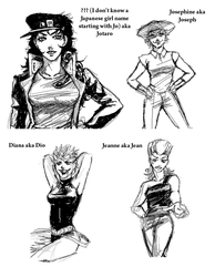 JoJo - Part 3 Gender Bender by FerioWind