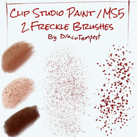 Freckle Brushes for Clip Studio Paint by DracoTempest