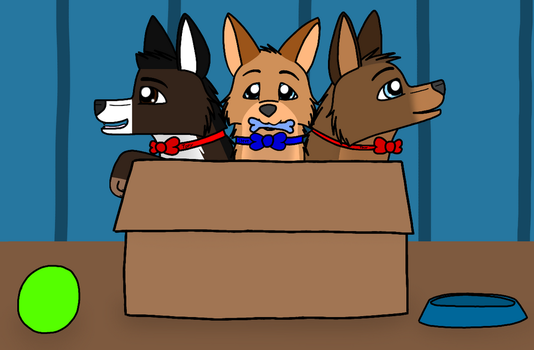 Three Avenger Puppies (What had I done... XD) by KasiArtsAndStories18
