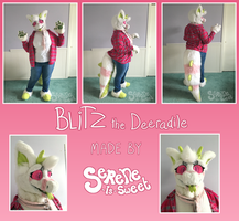 Blitz- partial fursuit by Serene-is-Sweet
