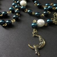Night Sky Necklace in Pearls by Gilliauna