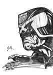 Dredd sketch by Solla-Damian