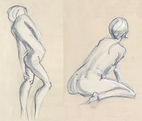 Life Drawing - September 2017 by Gizmoatwork