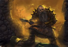 Dwarven Battlesmith by jakeandersonstudio