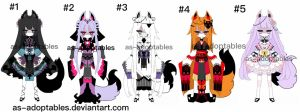 Kitsune adoptables  CLOSED by AS-Adoptables