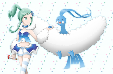 Pokemon - Lisia and Altaria by Eneko-nya