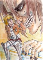 Armin and the Titan by Lillooler