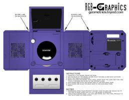 Paper Model-GameCube Blue by KnightRanger