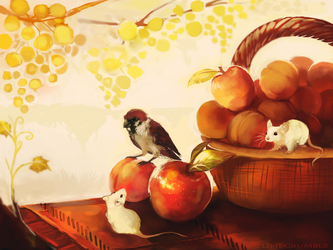 Apples And Peaches by Limecrumble