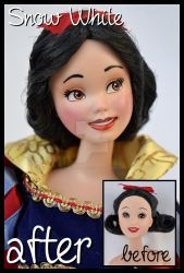 repainted ooak snow white doll. by verirrtesIrrlicht
