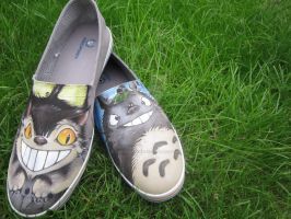 Totoro fred perry shoes by SkaraManger