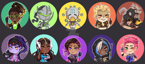 ::Buttons: Overwatch 2 by K0USEKI