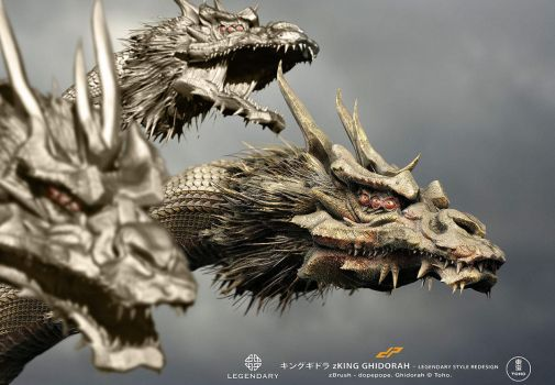 zGhidorah 'Legendary' style redesign by dopepope