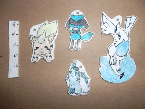 Custom Pokemon Keychain Commissions by Dream-Paint