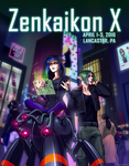 Zenkaikon 2016 Program Guide - Cyberpunk City by ghostfire